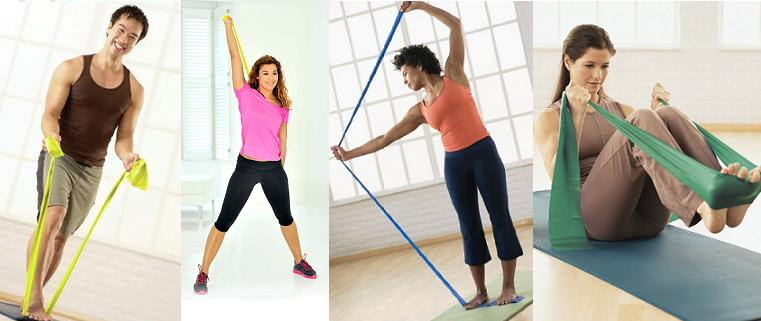 Pilates Flexyband8 - Pilates/Flexyband/Power Band Set Body Sculpture