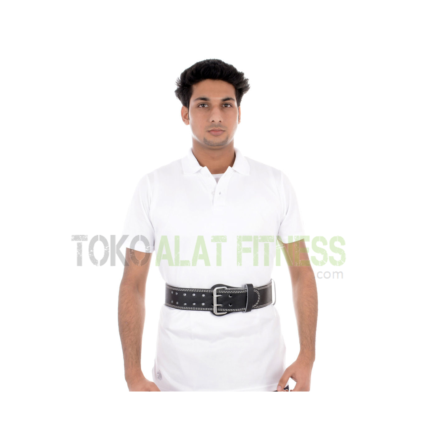 SABUK KULIT bs - Sabuk Fitness Kulit (Weight Lifting Belt) M Hitam Body Sculpture