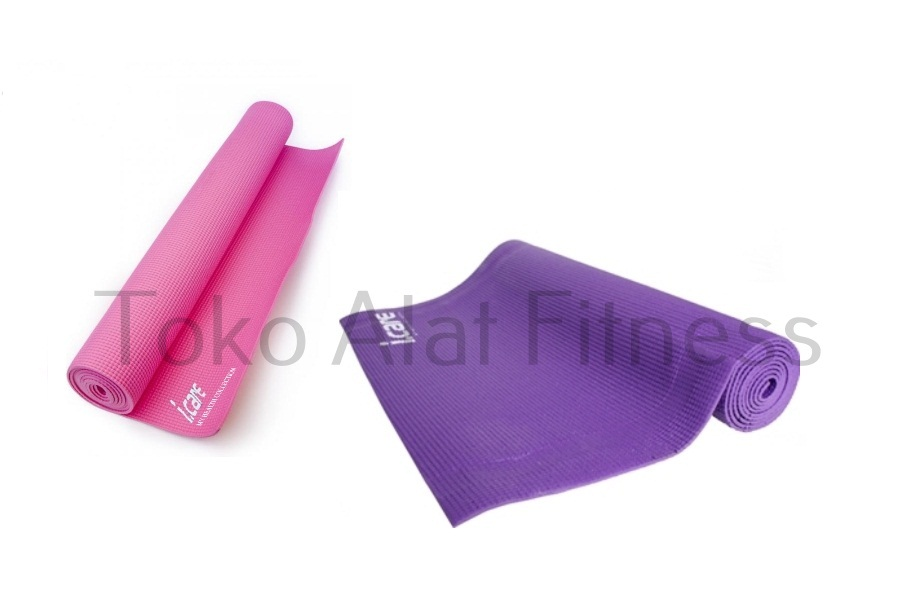 YOGA MAT PVC 4MM I CARE UNGU LAVENDER a1a - I Care Yoga Mat PVC 6mm