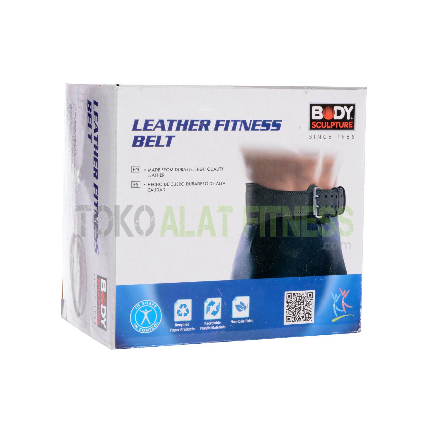 sabuk kulit bs krds - Sabuk Fitness Kulit (Weight Lifting Belt) M Hitam Body Sculpture