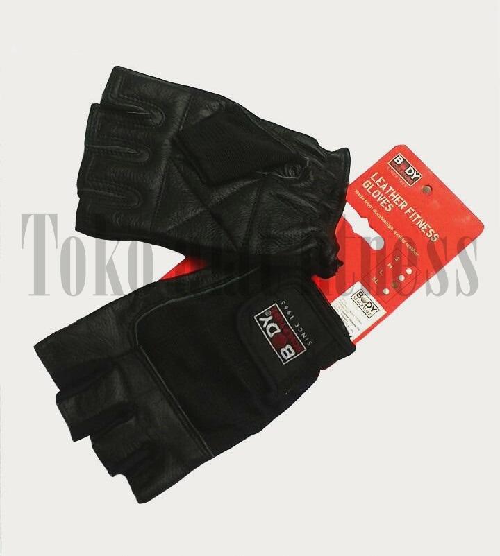 sarung tangan BS 3 edit new - Spandek Leather Fitness Gloves XL Body Sculpture