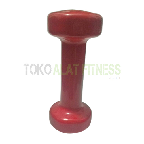 dumbell vynil 3 copy WTR - Dumbell Vynil 4Lb, Merah Sm Body Gym - ASSD39