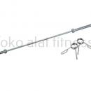 solid bar chromed olympic 218 x 5cm a 130x130 - Solid Bar Chromed Olympic 218 cm x 5 cm 15kg Body Gym