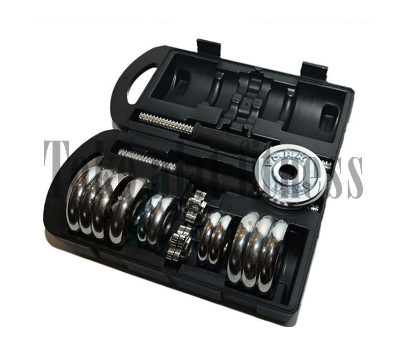 Dumbell Chrome set 15kg with Box York Fitness