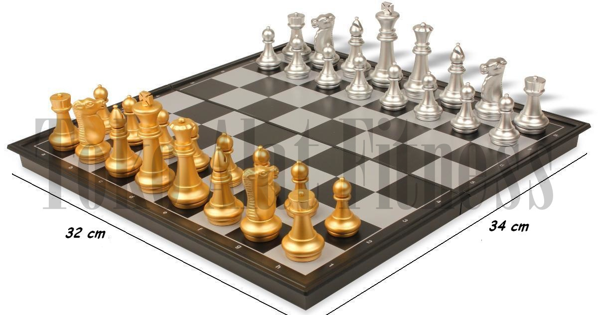 Chess Folding Magnetic Board 34cm paint - Chess Folding Magnetic Board 32cm
