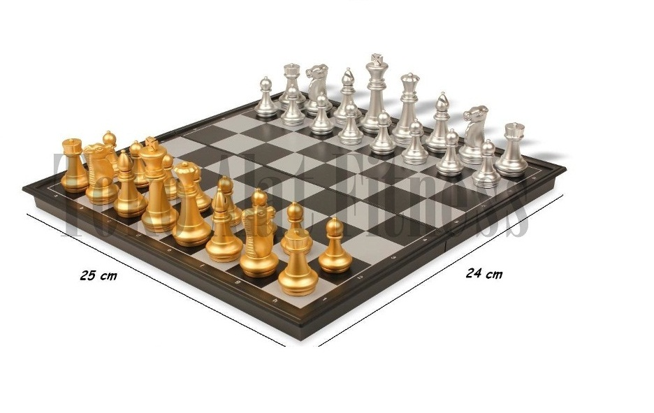 Chess Folding Magnetic Board1 1 - Chess Folding Magnetic Board 25cm - ASSLL60
