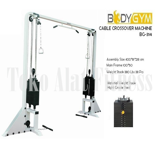 Cable crossover machine AMA 314 ac - Deluxe Cable Crossover Machine Body Gym Plus