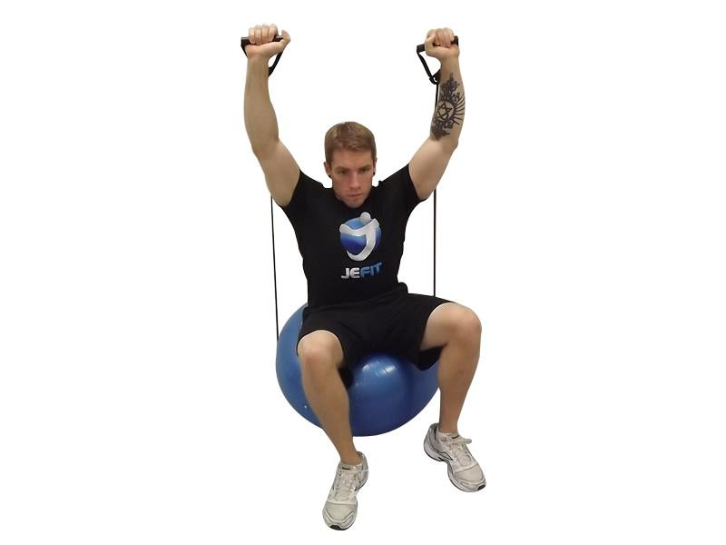 Gymball With Tubing Workout 2 - Gymball 65cm With Tubing Siken