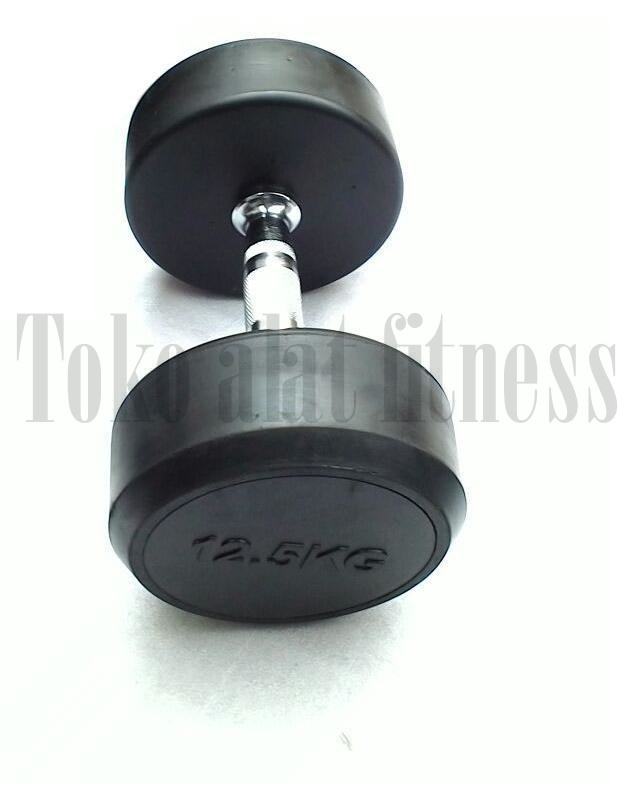 Dumbell Fix Rubber 12.5 kg Body Gym a - Dumbell Fix Rubber 12.5 Kg Body Gym - DFR5