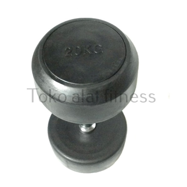 Dumbell Fix Rubber 20kg Body Gym aa - Dumbell Fix Rubber 20 Kg Body Gym