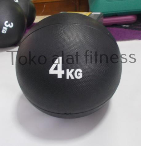 Medicine Ball 4kg - Medicine Ball 4kg Hitam (Mantul/mendal) Body Gym
