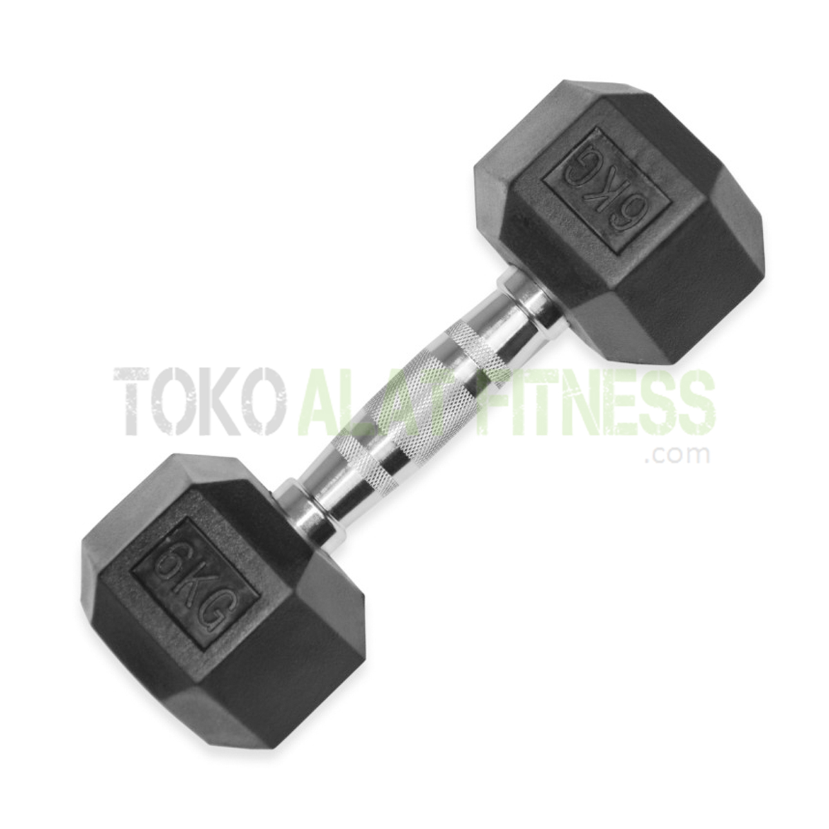 Body Gym Dumbell Rubber Hex 6kg - Dumbell Rubber HEX 6 Kg Body Gym