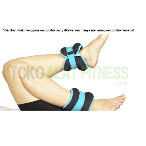 exsercise1 WTR - Kettler Ankle Weight/Foot Band 2Kg, Blue - ASSAW25