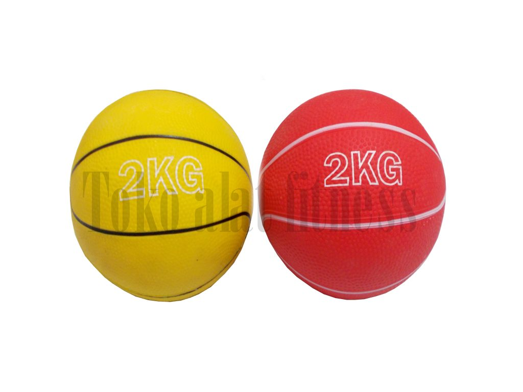 medicine ball 2kg double 1024x768 - Medicine Ball Kids 2kg (Merah Kuning) Athletic