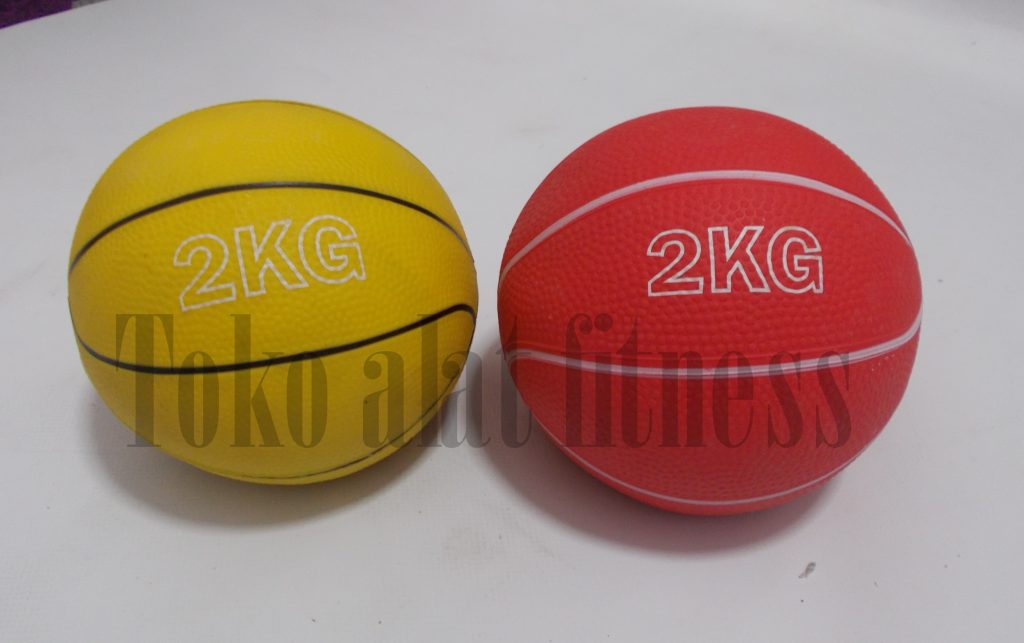 medicine ball kids 2kg 1024x643 - Medicine Ball Kids 2kg (Merah Kuning) Athletic