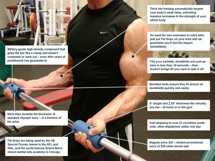 fat gripz workout 3 - Fat Gripz-Fitness/Barbell/Dumbell - ASSAF36