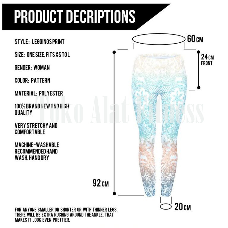 Legging Aztec Round Ombre Fitness Blue f - Legging Round Ombre Fitness Blue Aztec - ASSPF4