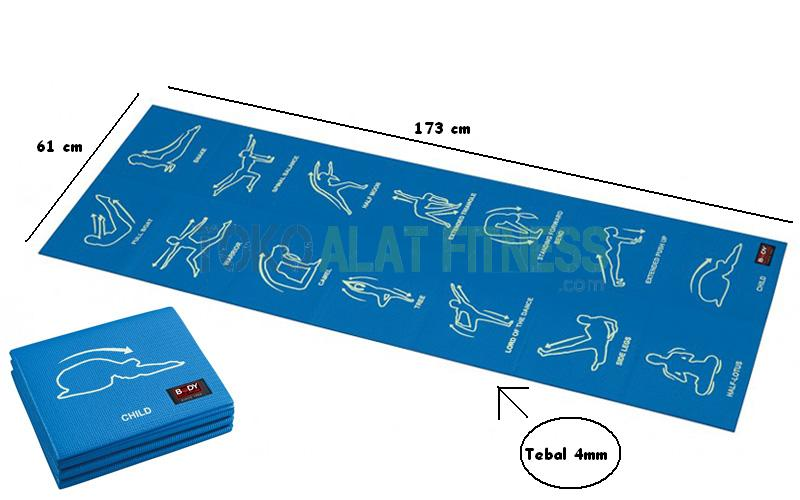 Yoga mat foldable BS wtr - Exercise Mat, Blue Body Gym
