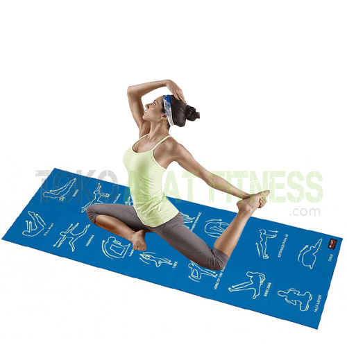yga mat foldable workout - Exercise Mat, Blue Body Gym