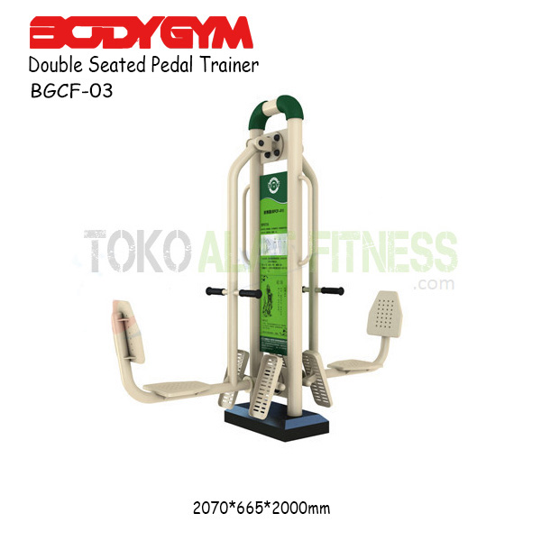 BGCF 03 - Alat Fitness Outdoor - Body Gym Double Seated Pedal Trainer BGCF-03