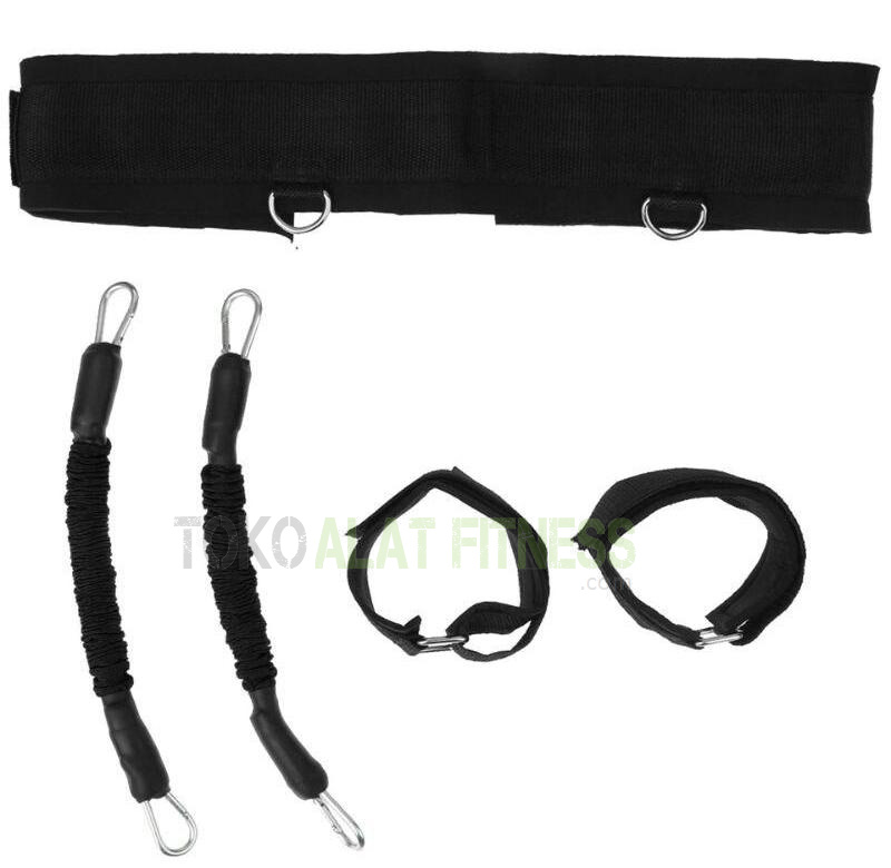 Resistance Band Bounce Trainer and Ankle Strap Hitam wtr 1 - Resistance Band & Ankle Strap Bounce Trainer Hitam Body Gym