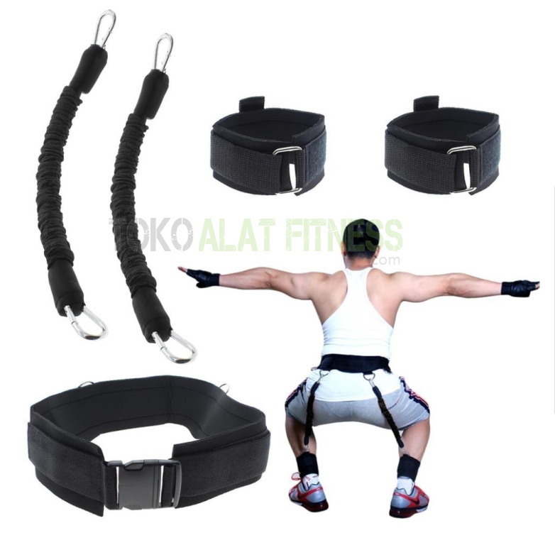 Resistance Band Bounce Trainer and Ankle Strap Hitam wtr 9 - Resistance Band & Ankle Strap Bounce Trainer Hitam Body Gym