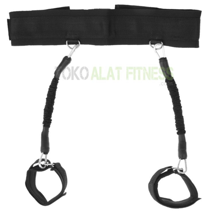 Resistance Band Bounce Trainer and Ankle Strap Hitam wtr - Resistance Band & Ankle Strap Bounce Trainer Hitam Body Gym