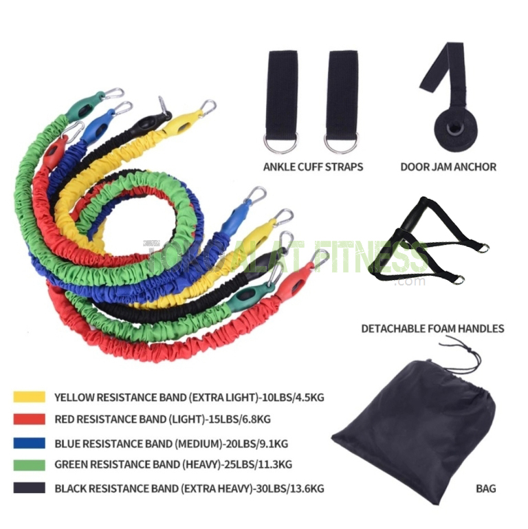 Resistance band set cover fabric crossfit training 4 - Resistance Band Set Cover Fabric Crossfit Training Body Gym
