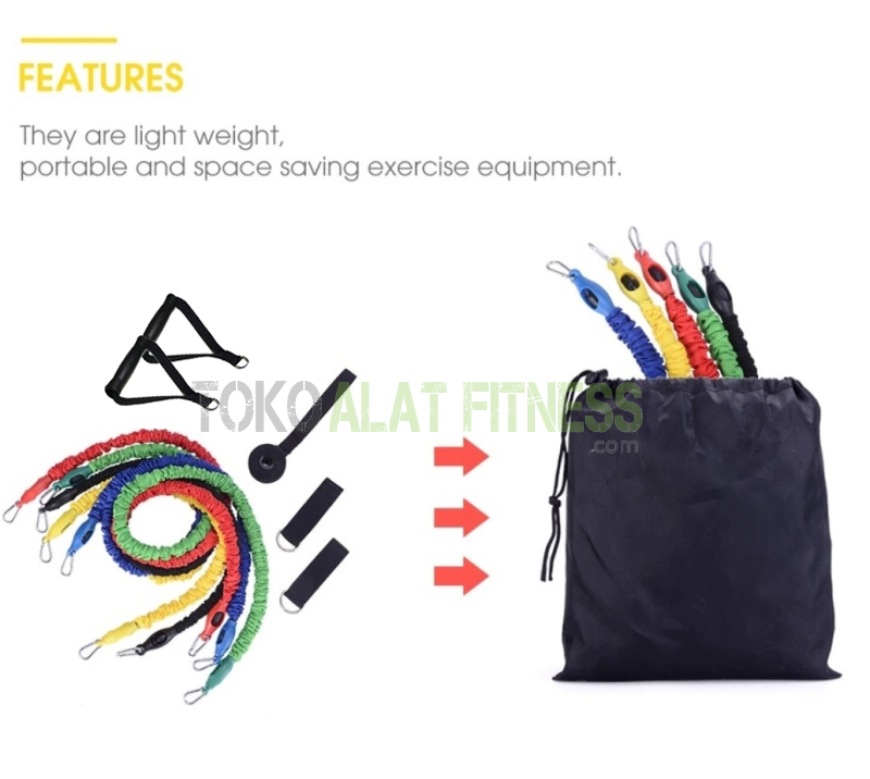 Resistance band set cover fabric crossfit training 7 - Resistance Band Set Cover Fabric Crossfit Training Body Gym