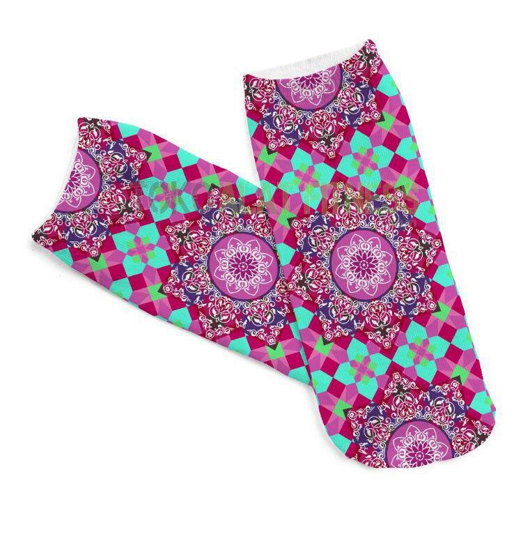 Yoga Sock Mandala pink 1 - Yoga Sock (Pink) Mandala - ASSY99C