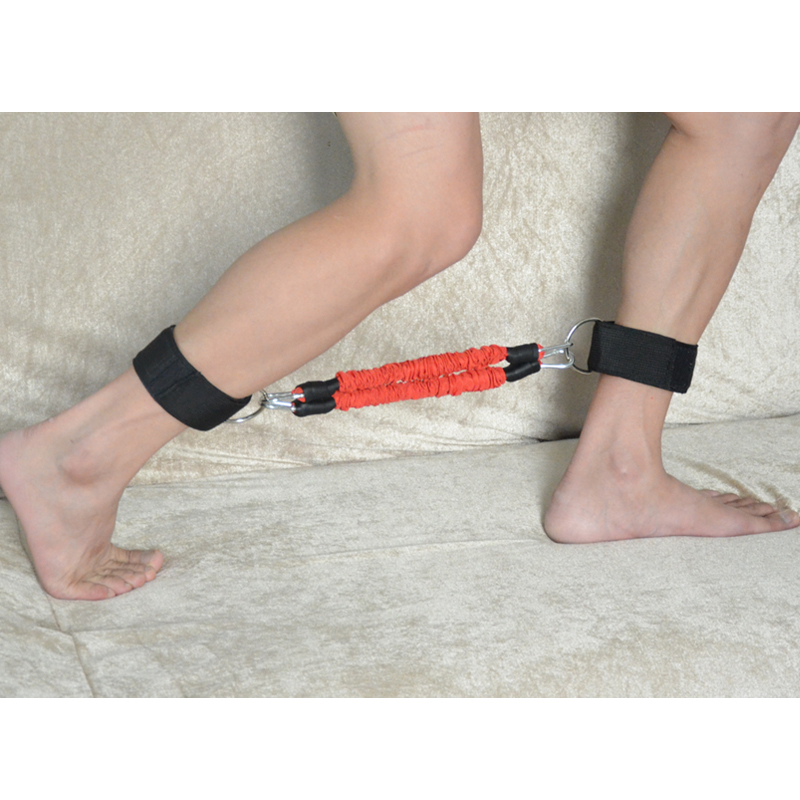 workout11 1 - Ankle Strap Resistance Kinetic Tube (Merah) Body Gym