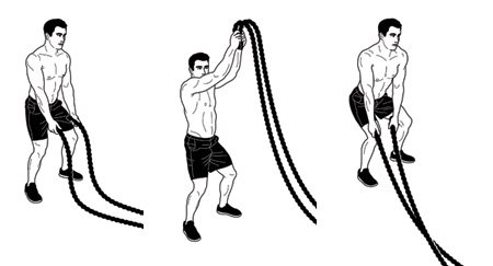 battle rope workout 1 - Battle Rope Rope With Cover 9M 3.8CM Body Gym