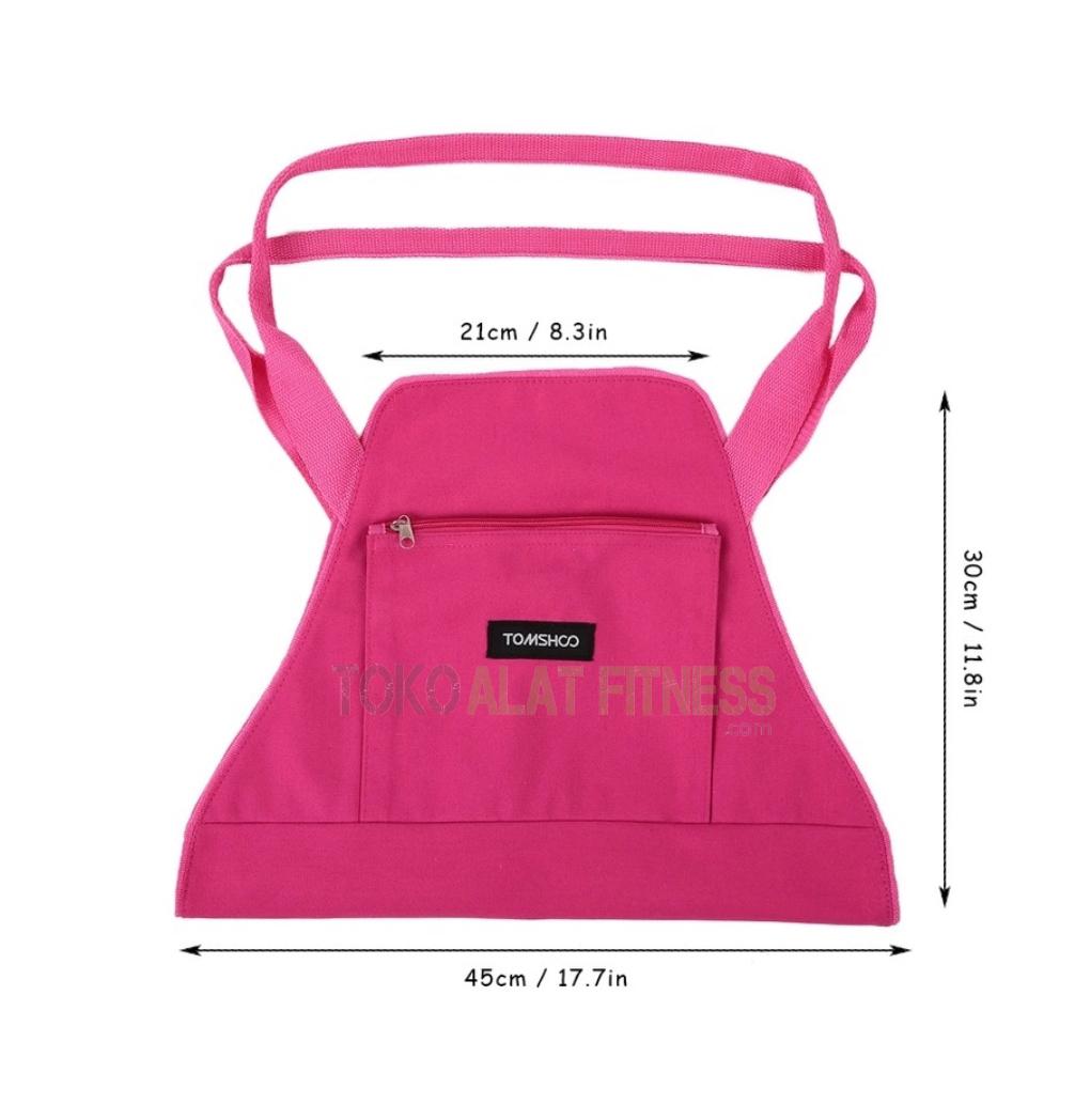 yoga bag tas pink wtr c - Yoga Mat Carrier Bag Body Gym