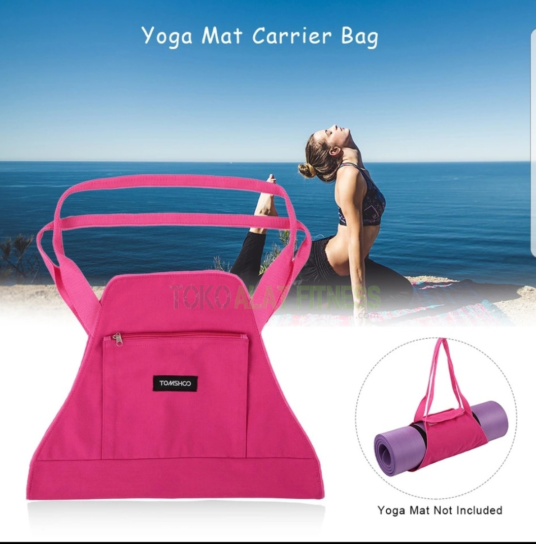 yoga bag tas pink wtr d - Yoga Mat Carrier Bag Body Gym