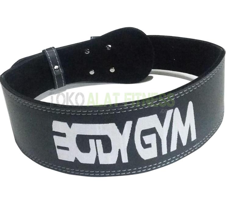 Body Gym Sabuk Fitness Semi Kulit wtr c 1 - Sabuk Fitness Kulit L Body Gym