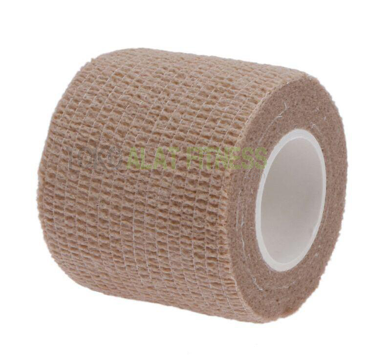 roll cotton elastic tape coklat wtr a - Roll Cotton Elastic Tape Cream Body Gym