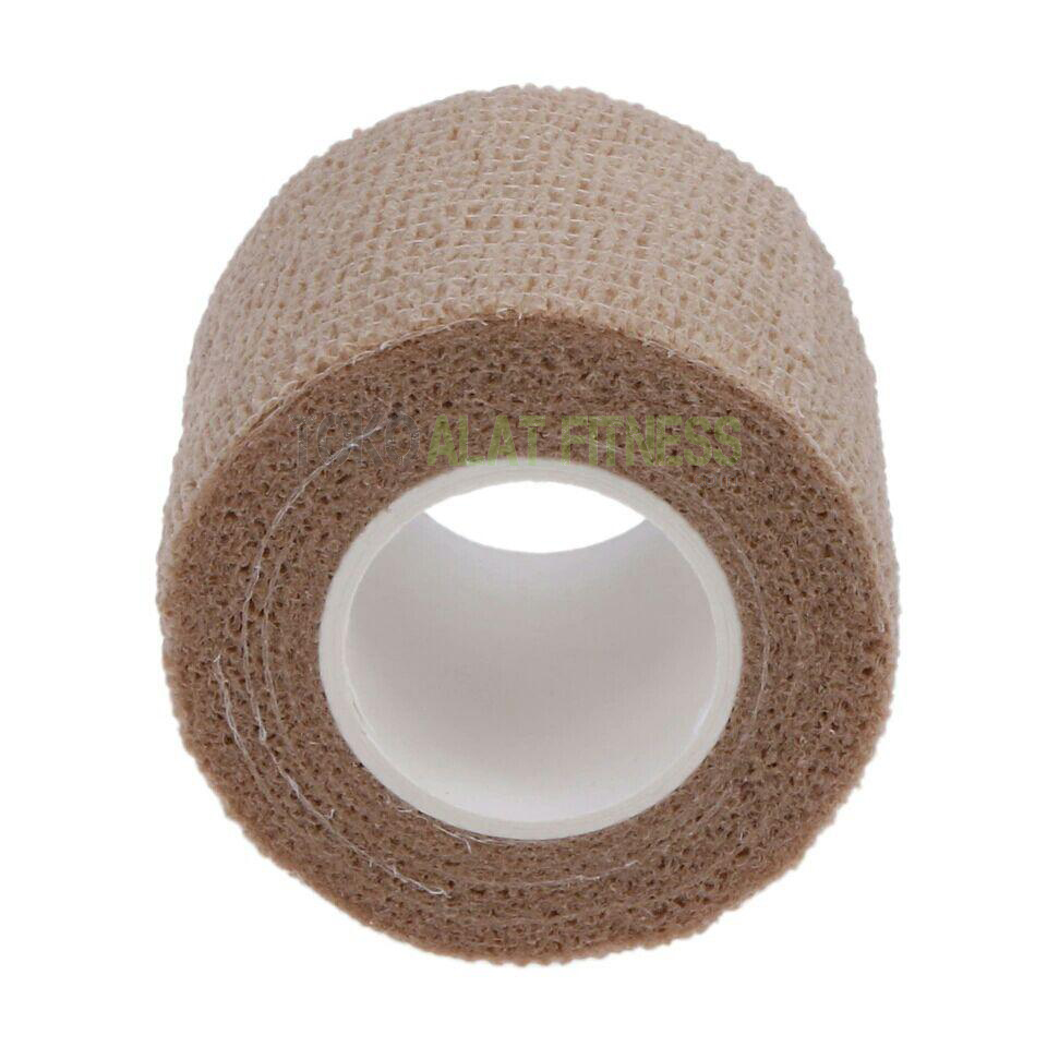 roll cotton elastic tape coklat wtr b - Roll Cotton Elastic Tape Cream Body Gym