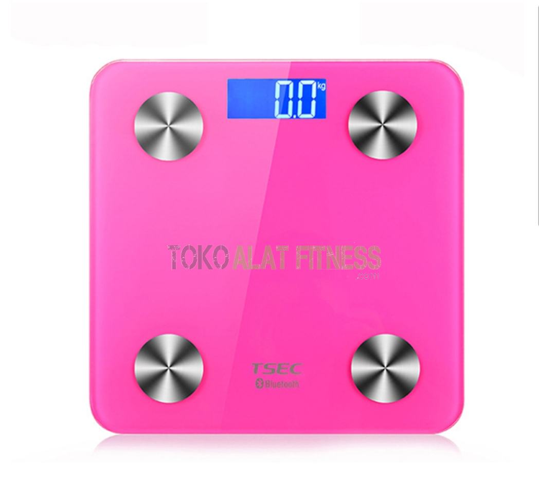 Body Scale with LCD Display Bluetooth g - Timbangan Body Scale With Lcd Display Bluetooth Pink Body Gym