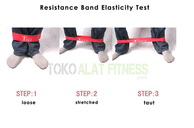 Resistance band loop f wtr - Resistance Band Loop Heavy merah Body Gym