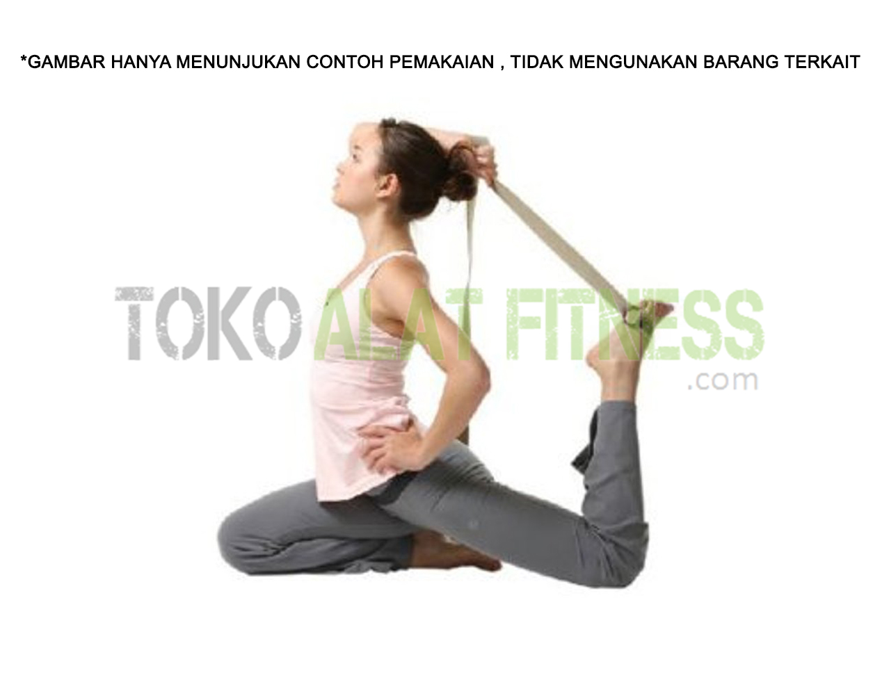 Yoga Strap Exercise 3 - Yoga Strap 3.8 x 180cm Hitam Body Gym
