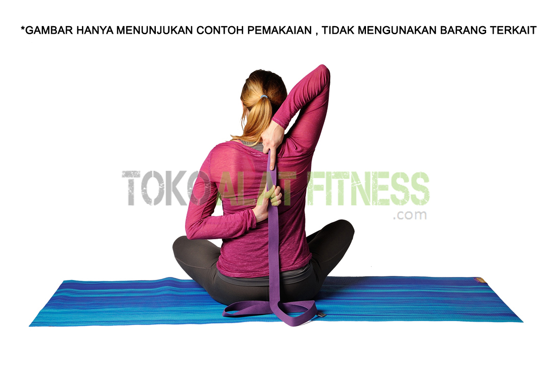 Yoga Strap Exercise 5teks - Yoga Strap 3.8 x 180cm Hitam Body Gym