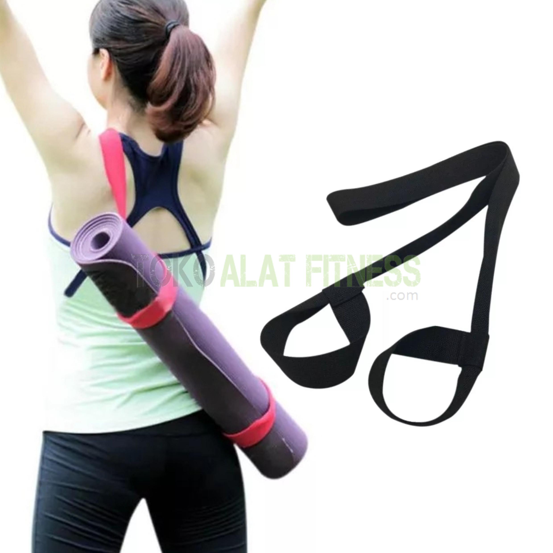 Yoga mat strap black wm - Yoga Mat Strap, Hitam Body Gym