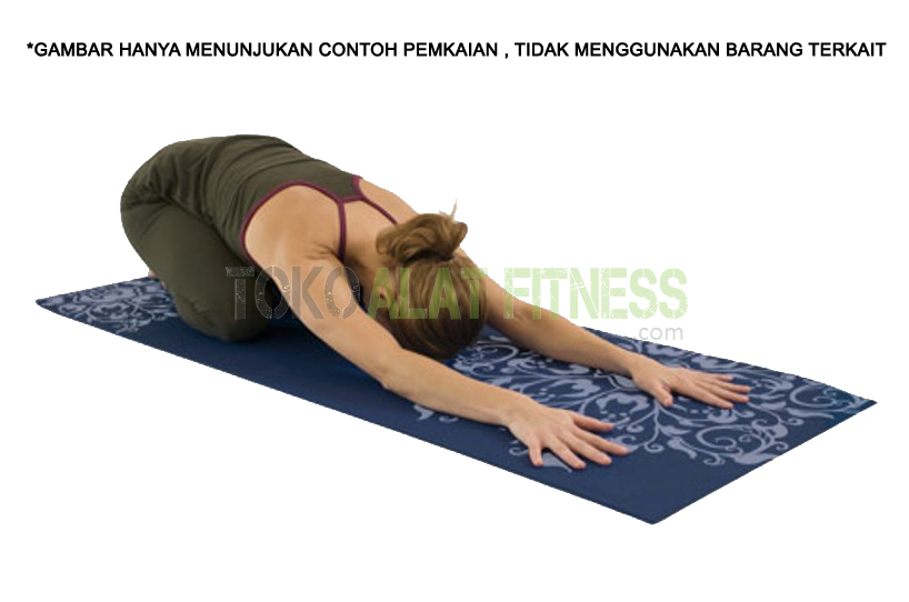 eco smart yoga mat in use - Yoga Mat PVC 6mm + sarung (Pink Muda) Fiesta