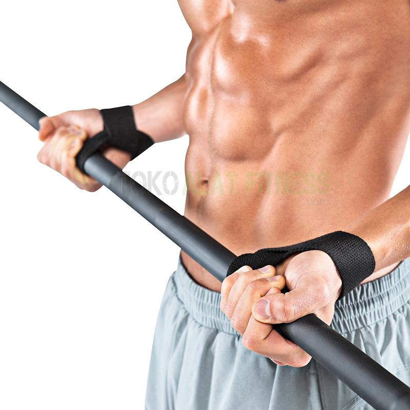 lifting strap body gym putih wtr wrkt 2 - Lifting Strap Body Gym Red Body Gym - ASSAF31B