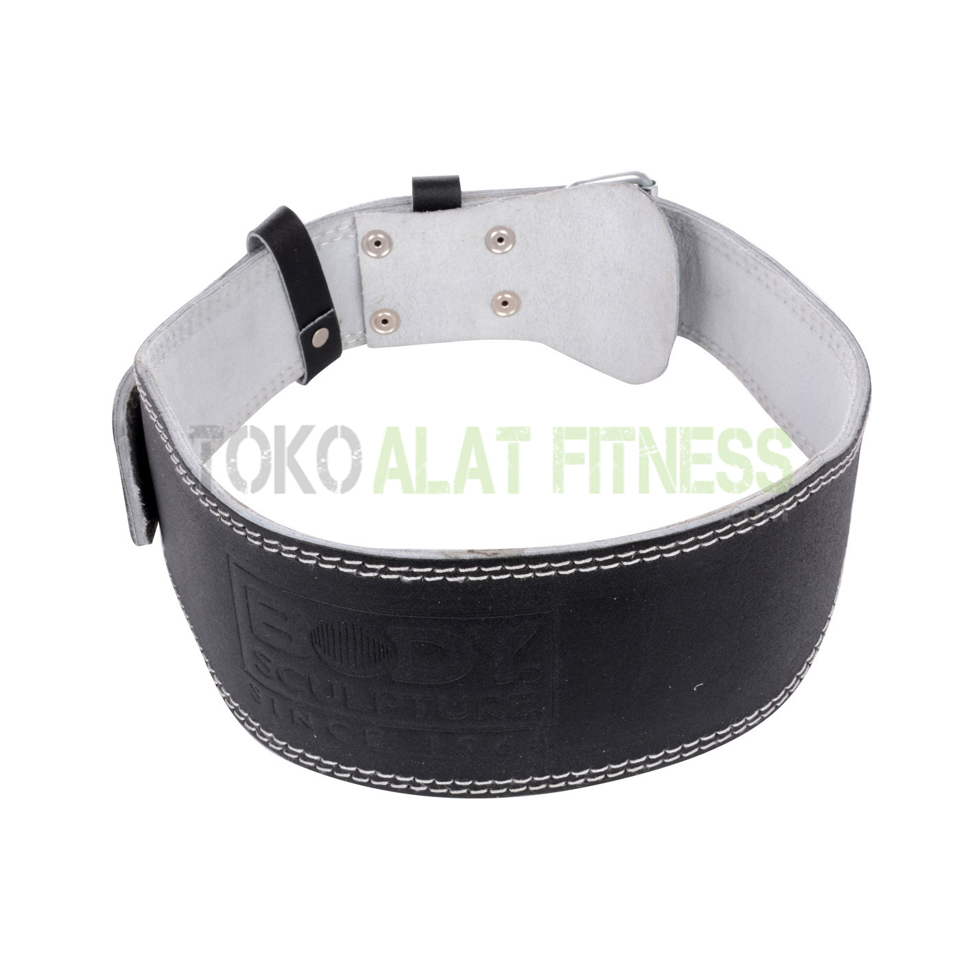 sabuk kulit body sculpture wtr - Sabuk Fitness Kulit (Weight Lifting Belt) L Hitam Body Sculpture - ASSSF1B