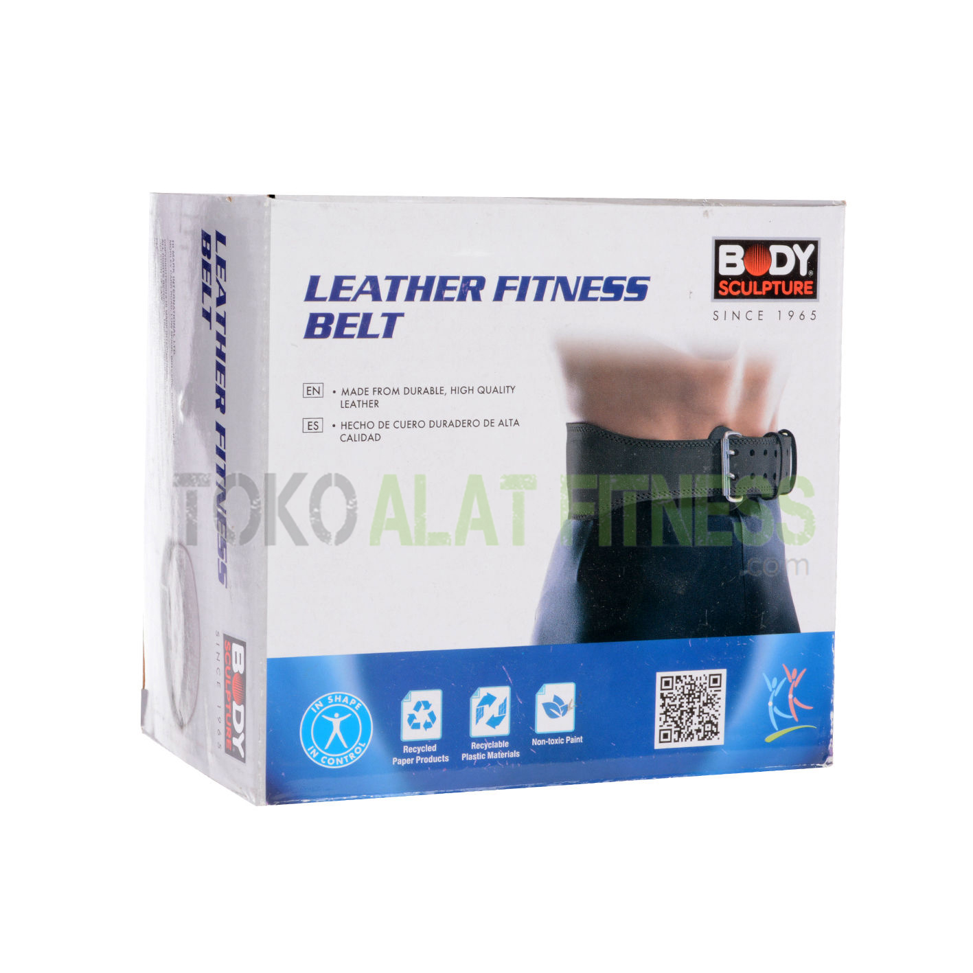 sabuk kulit bs krds - Sabuk Fitness Kulit (Weight Lifting Belt) L Hitam Body Sculpture - ASSSF1B