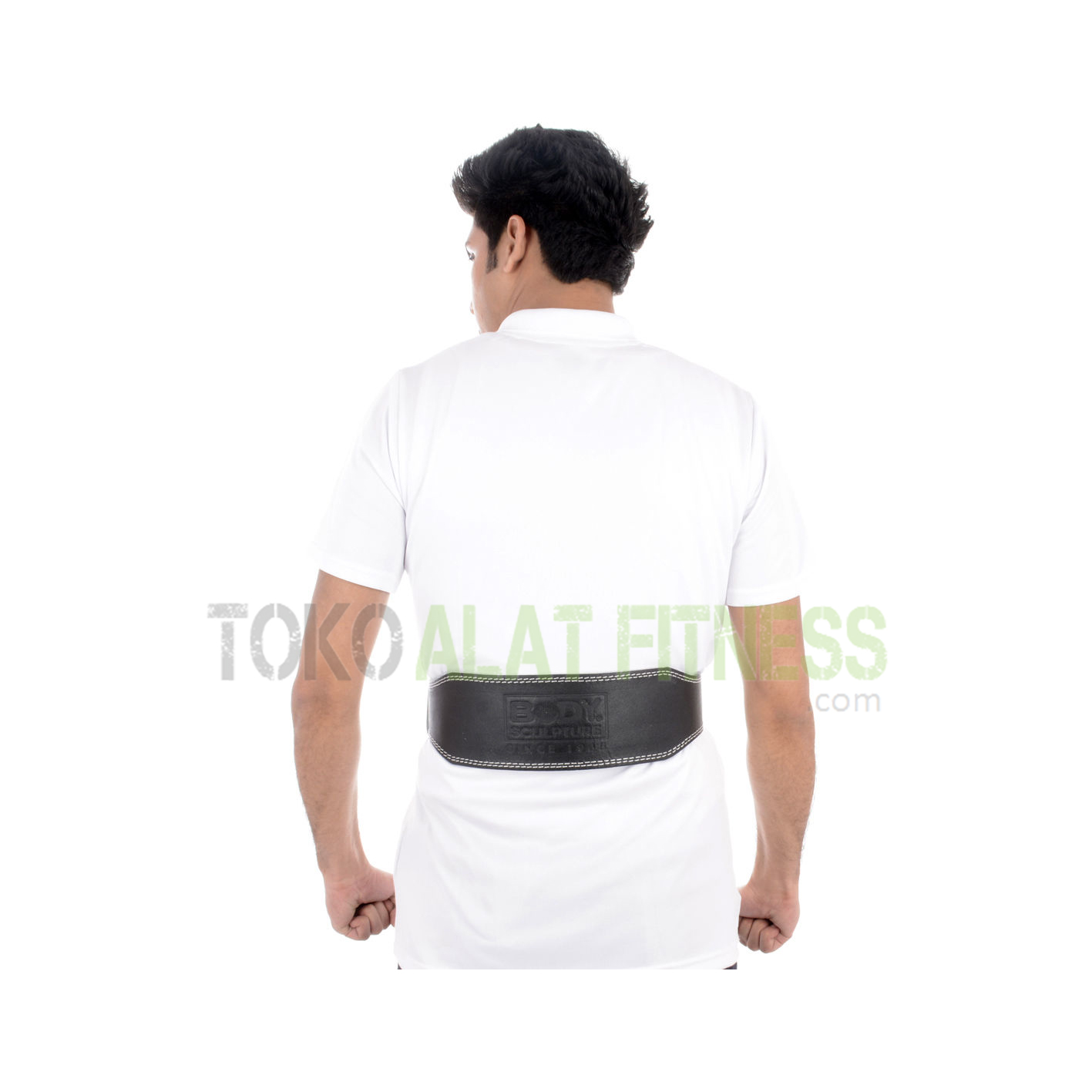 sabuk kulit bs2 - Sabuk Fitness Kulit (Weight Lifting Belt) L Hitam Body Sculpture - ASSSF1B