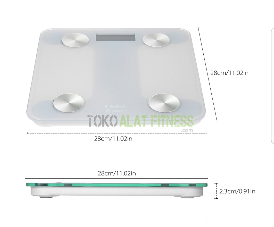 Body Scale with LCD Display Bluetooth e - Timbangan Body Scale With Lcd Display Bluetooth Putih Body Gym