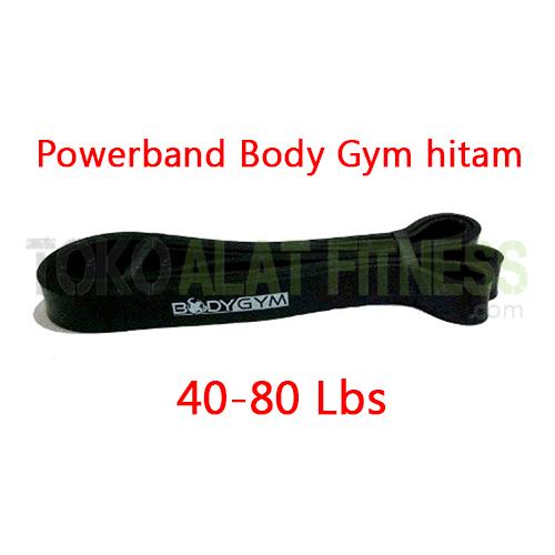 powerband body gym hitam spek wtm - Powerband (Black) 208X2.3X0.45 Cm Body Gym - ASSP22