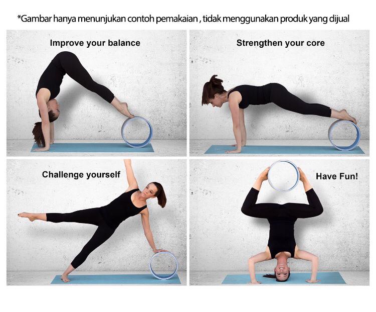 yoga wheel workout s 1 - Yoga Wheel, Hijau Body Gym